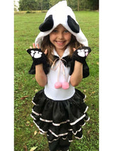Panda Deluxe Hooded Costume for Toddler, Girls - buy online, free shipping, Sydney So Sweet