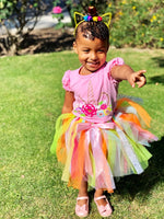 Unicorn Pink Rainbow Tutu Skirt & Top Set