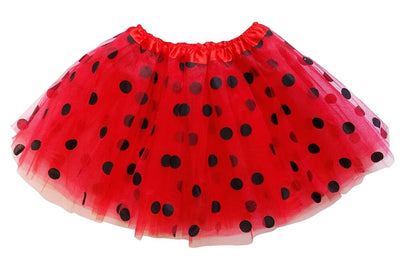 Red - Black Polka Dot Tutu Skirt for Girls, Women, Plus - buy online, free shipping, Sydney So Sweet