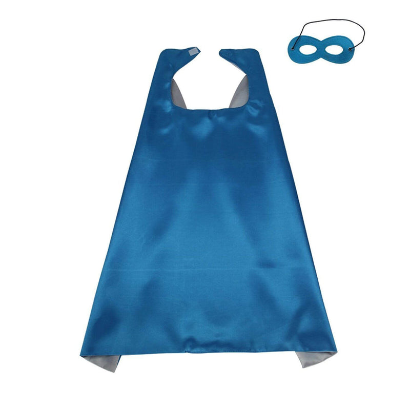 Light Blue & Silver - Superhero Cape & Mask Set, Costume for Kids - buy online, free shipping, Sydney So Sweet
