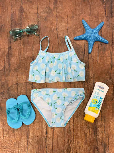 Dandelion Wishes Girls' Two Piece Flounce Bikini Swimsuit - Sydney So Sweet
