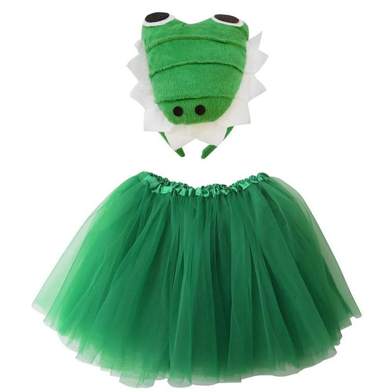 Alligator Green Tutu Costume with Ears for Girls - Sydney So Sweet