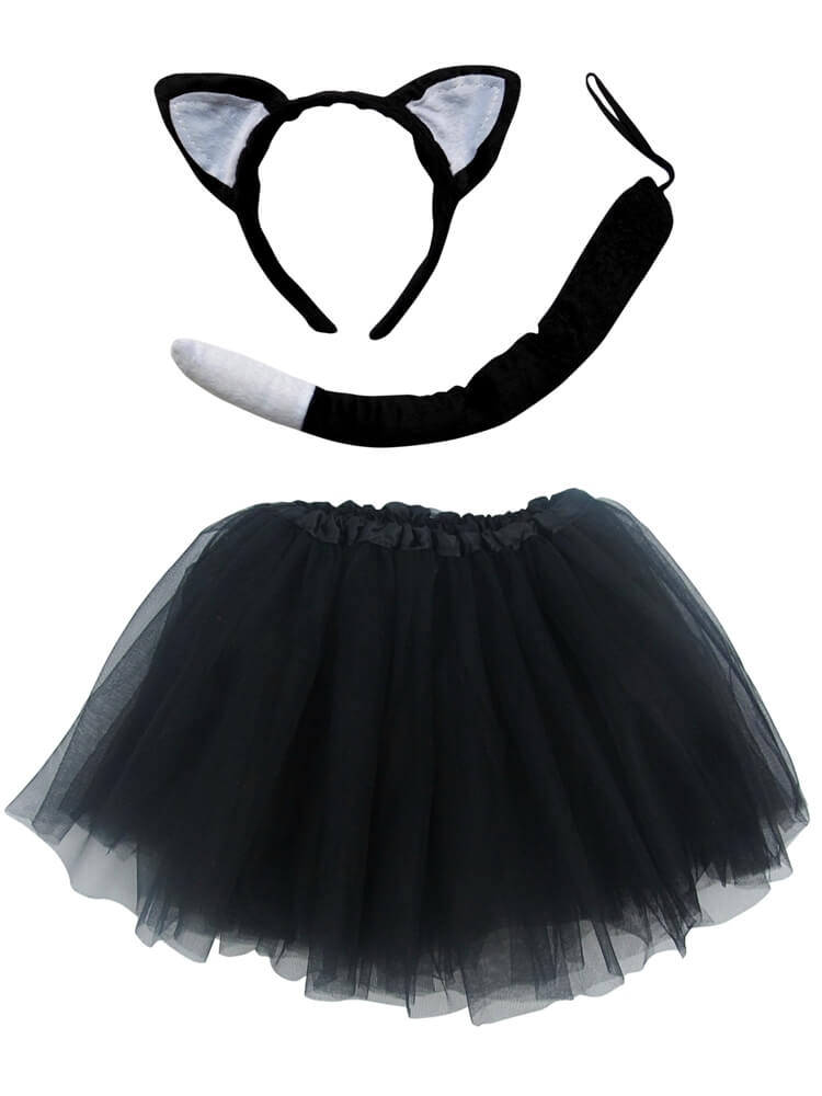 Cat Tutu Costume with Tail & Ears for Girls - Sydney So Sweet