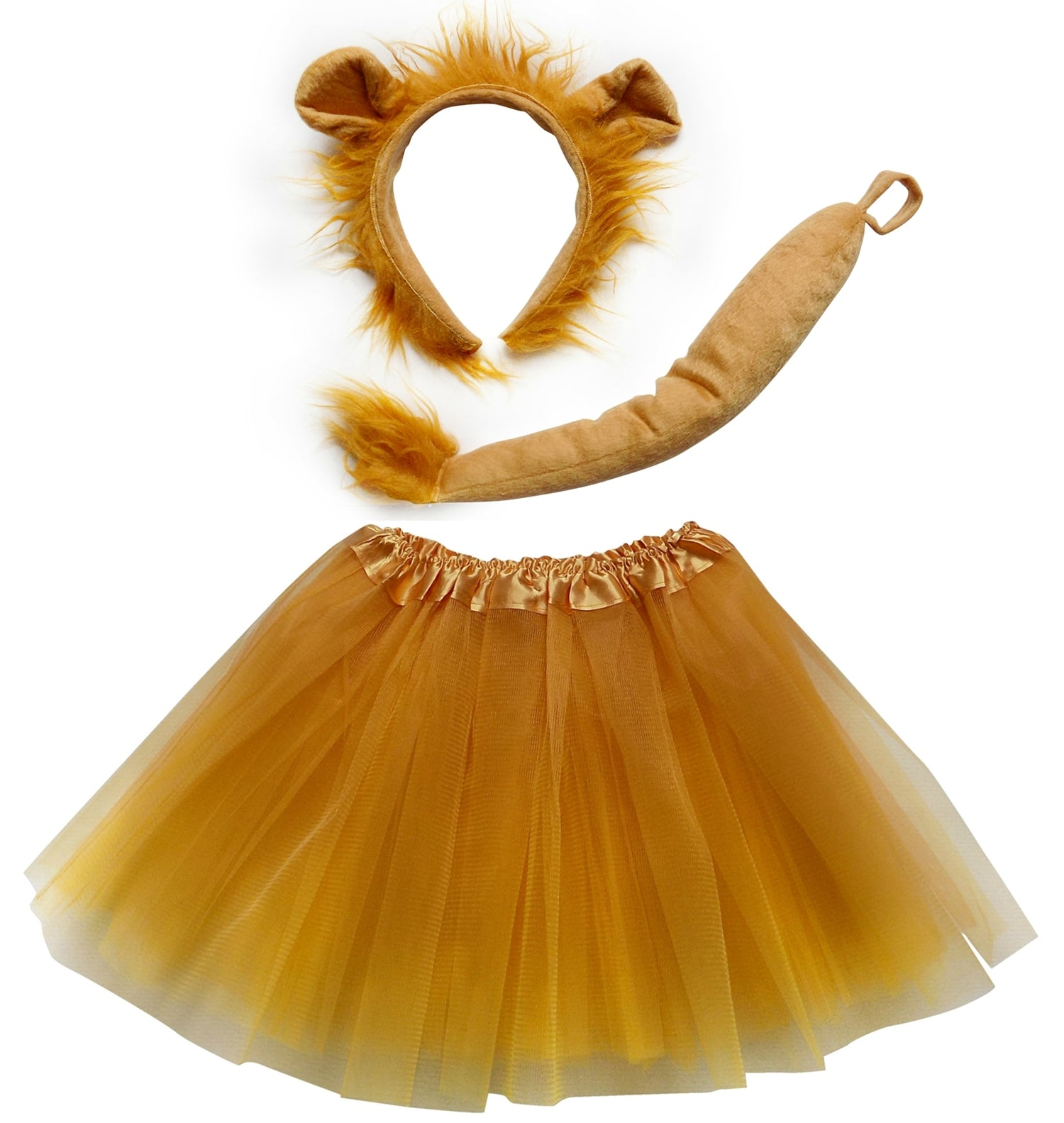 e5aa1201bc Adult or Plus Size Lion Costume with Tutu Skirt, Ears Headband & Tail