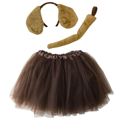 Adult, Plus, or Extra Plus Size Brown Puppy Dog Tutu Costume - Sydney So Sweet