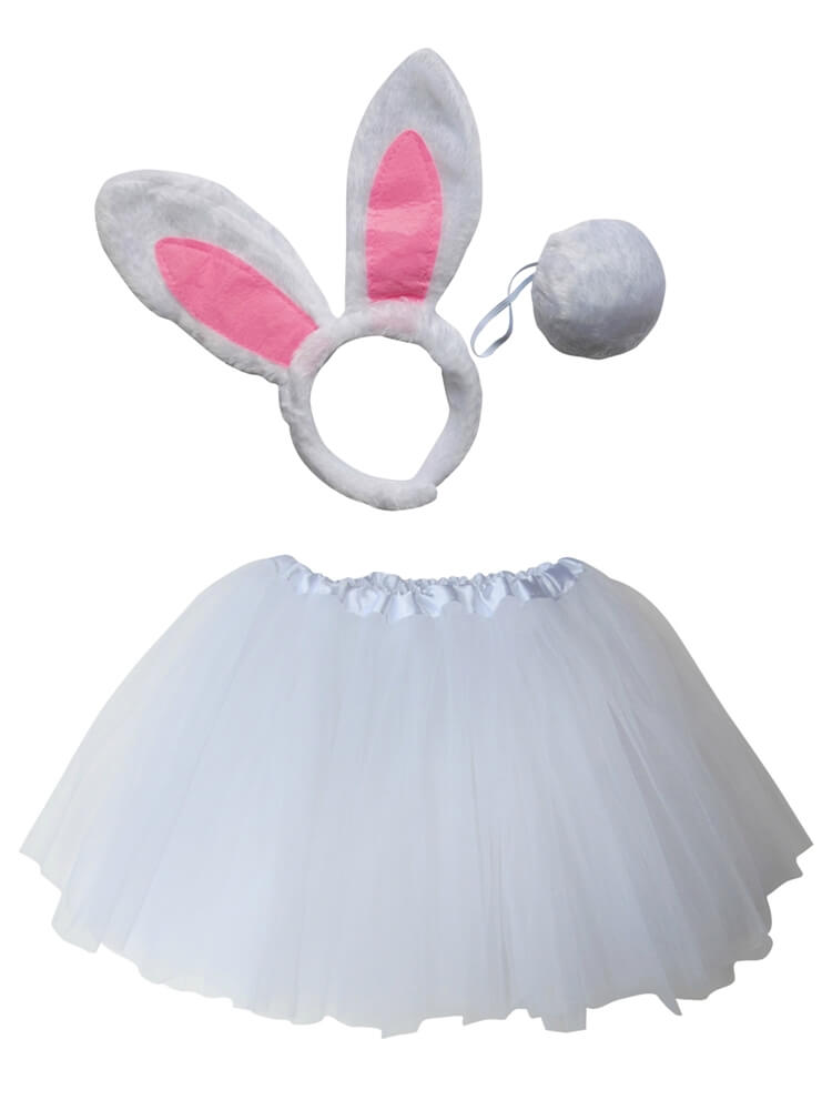 Rabbit Tutu Costume with Tail & Ears for Girls