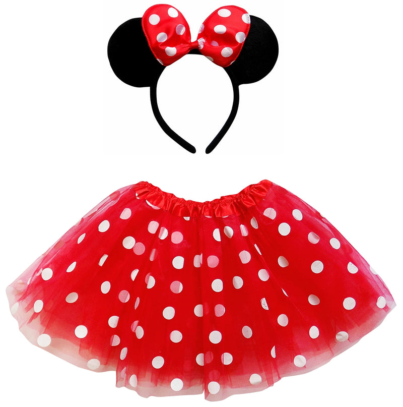 Adult, Plus, or Extra Plus Size Minnie Mouse Red Tutu Costume