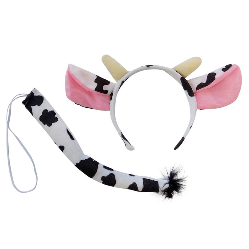 Cow Headband Ears & Tail, Kid or Adult Costume Accessories - buy online, free shipping, Sydney So Sweet