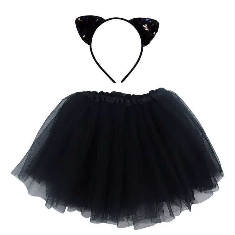 Adult, Plus, or Extra Plus Size Black Flip Sequin Cat Tutu Costume - buy online, free shipping, Sydney So Sweet