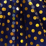 Navy - Gold Polka Dot Tutu Skirt for Girls, Women, Plus