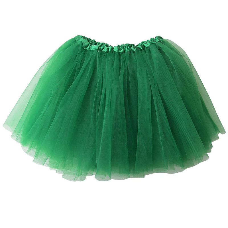 Green Girls Tutu Skirt - Kids Size 3- Layer Basic Ballet Tutu - Sydney So Sweet