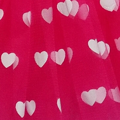 Hot Pink - Printed Heart Tutu for Girls, Women, Plus