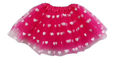 Hot Pink- Printed Heart Tutu - Sydney So Sweet - Cute Clothes for Girls, Baby Boutique