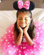 Hot Pink Minnie Mouse Headband Ears, Kid or Adult Costume Accessories