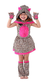 Hot Pink Hooded Cheetah Costume for Girls & Toddler