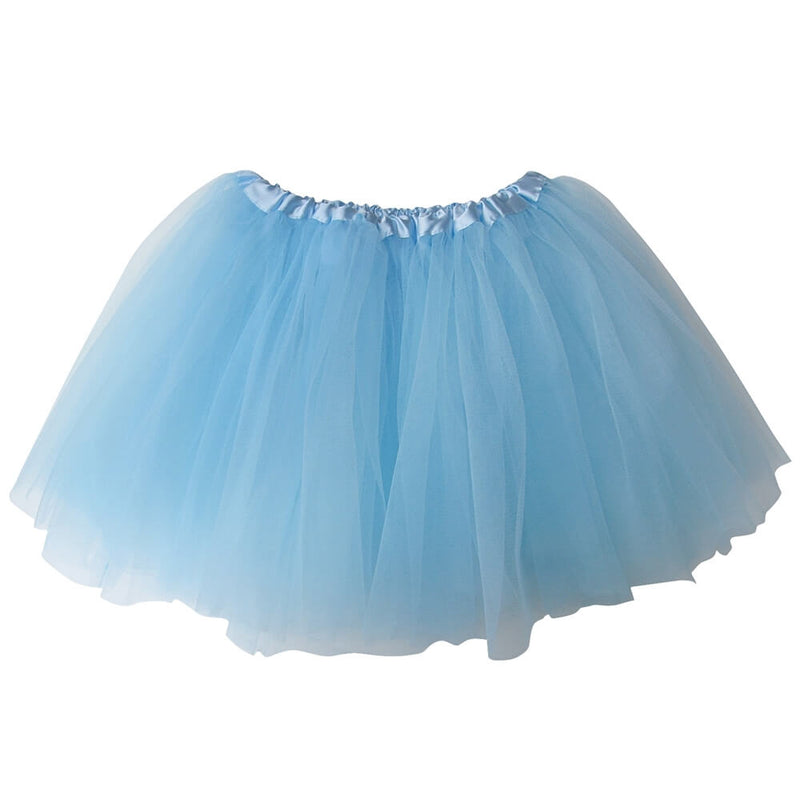 Light Blue Girls Tutu Skirt - Kids Size 3- Layer Basic Ballet Tutu