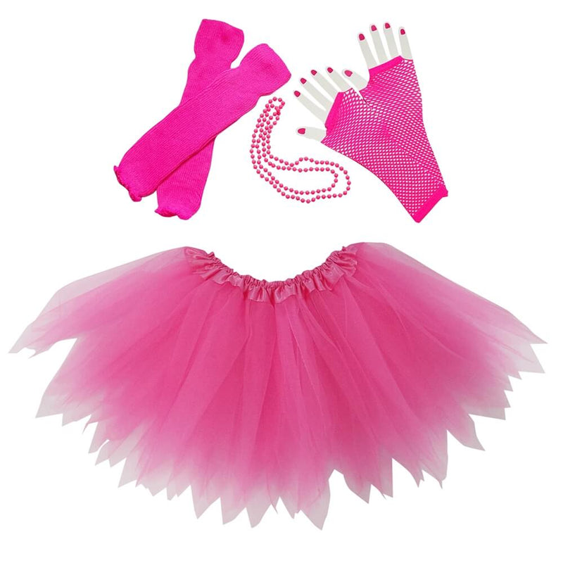 Hot Pink 80's Pixie Tutu Costume & Accessories for Kids, Womens, Plus Size
