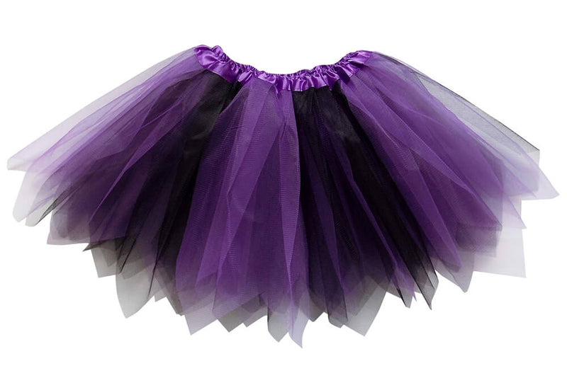 Purple, Black- Fairy Costume Pixie Tutu Skirt