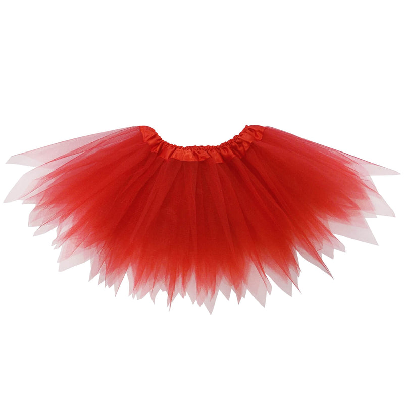 Red Tutu - Fairy Costume Pixie Tutu Skirt