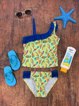 Popsicle Party One Shoulder Girls' Two Piece Tankini Swimsuit - buy online, free shipping, Sydney So Sweet
