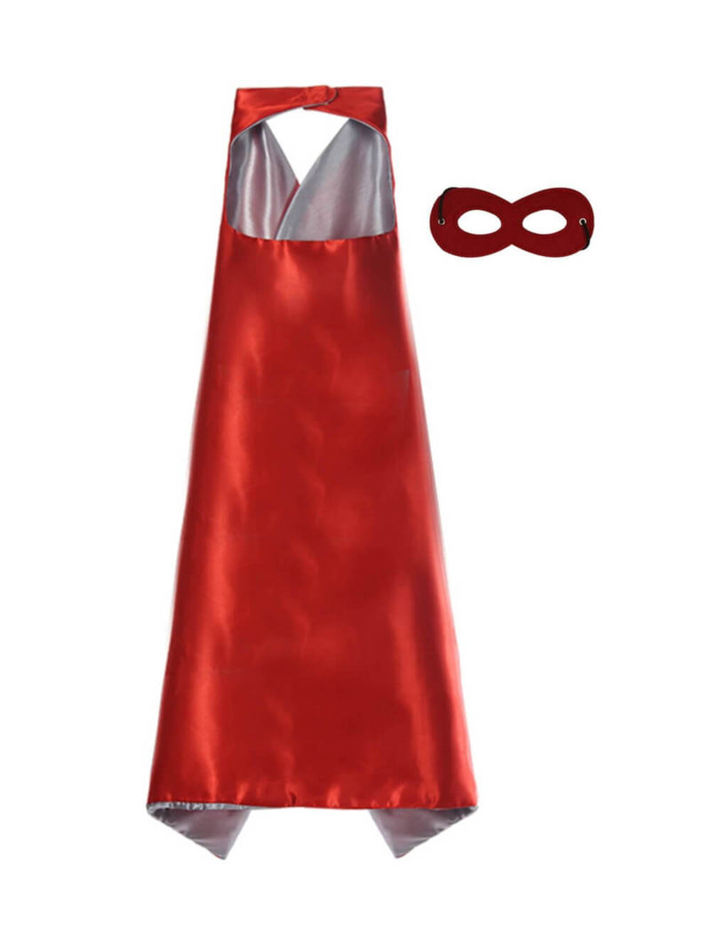 Red & Silver - Superhero Cape & Mask Set, Costume for Kids