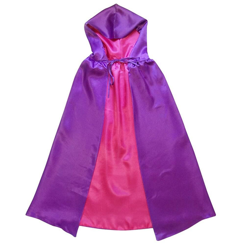 Purple & Pink - Superhero or Princess Reversible Hooded Cape