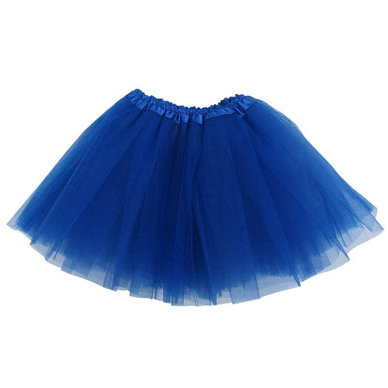 Royal Blue Girls Tutu Skirt - Kids Size 3- Layer Basic Ballet Tutu