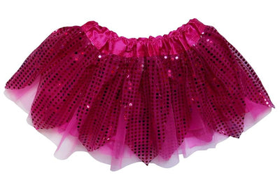 Hot Pink - Sparkle Running Skirt or Tutu for Girls, Women, Plus