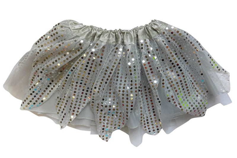 Silver - Sparkle Running Skirt or Tutu for Girls, Women, Plus