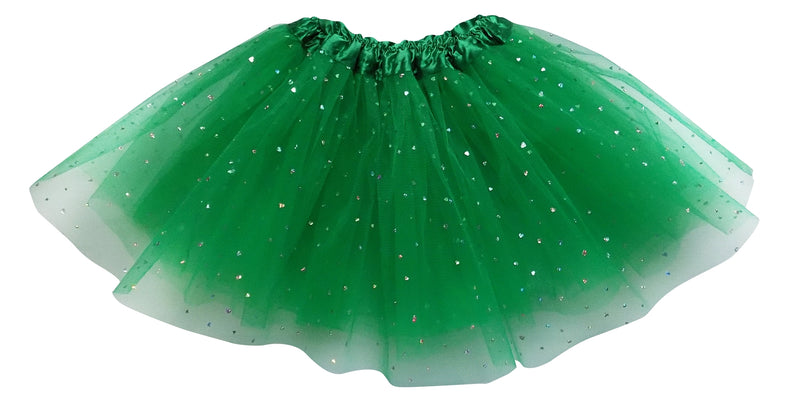 Green - Sequin Heart Tutu for Girls, Women, Plus - Sydney So Sweet
