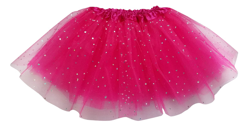 Hot Pink- Sequin Heart Tutu - Sydney So Sweet Children's Boutique Cute Clothes for Girls & Baby Boutique