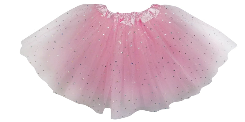 sparkle in pink sequin heart 3 layer tutu