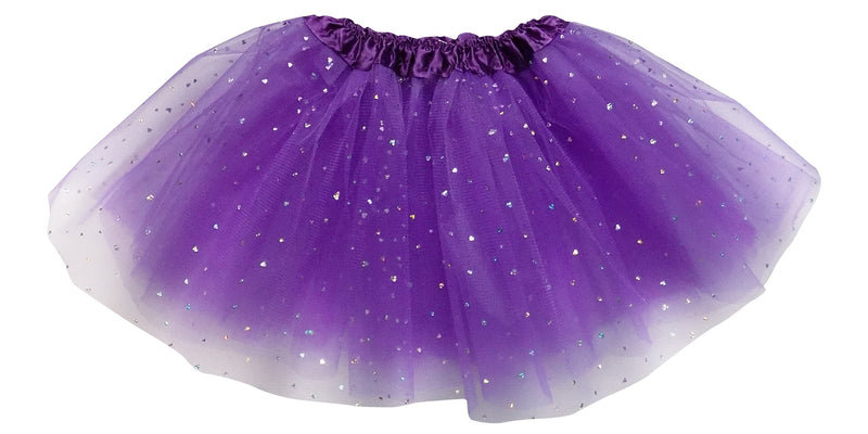 Purple- Sequin Heart Tutu