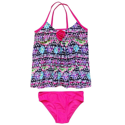 Aztec Hot Pink Girls' Two Piece Tankini Swimsuit - Sydney So Sweet