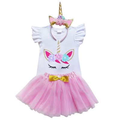 Unicorn Pink and Gold Tutu Skirt & Top Set - buy online, free shipping, Sydney So Sweet