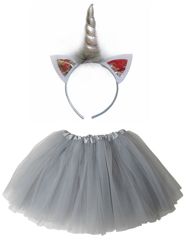 Silver Metallic Unicorn Tutu Costume