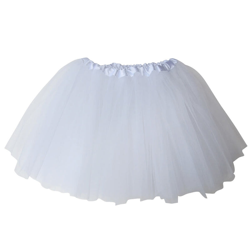 White Plus Size Adult Tutu Skirt - Women's Plus Size 3- Layer Basic Ballet