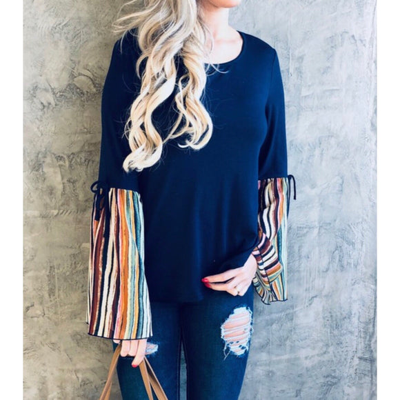 Multi colored bell sleeve Olivia