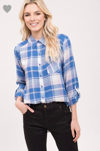 Button up plaid
