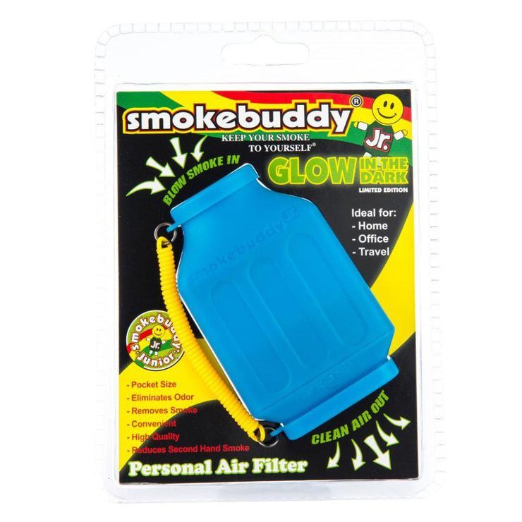 Smokebuddy Glow In Dark Personal Air Filter - Blue Junior