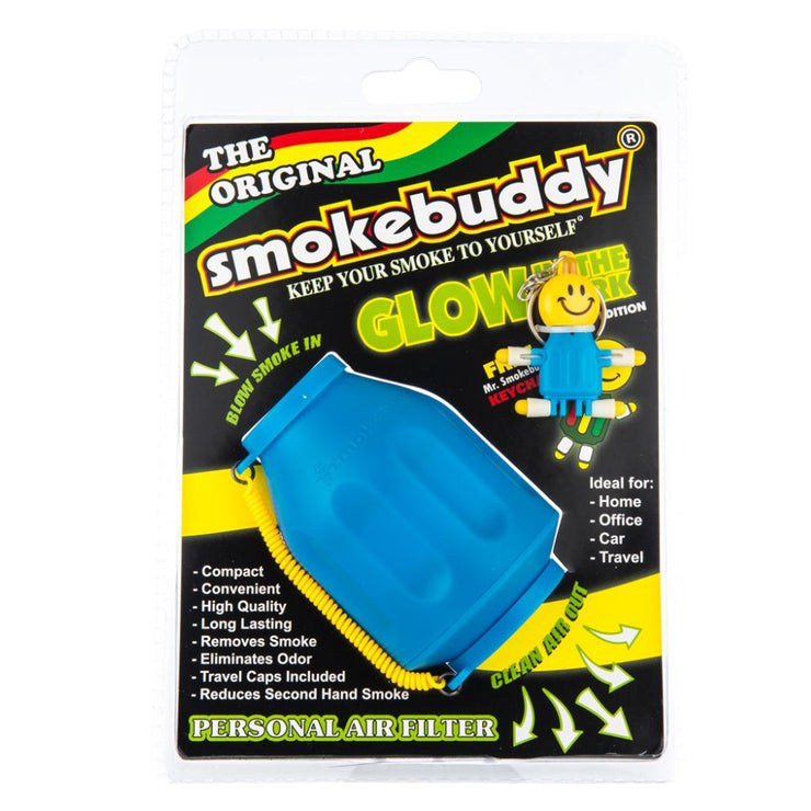 Smokebuddy Glow In Dark Personal Air Filter - Blue Original