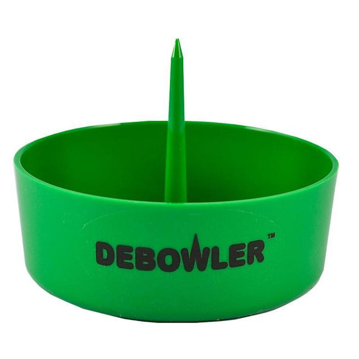 Black with Gold Spike Debowler Narwhal Silicone Ashtray With Billet Aluminum Cleaning Poker NEW! Large