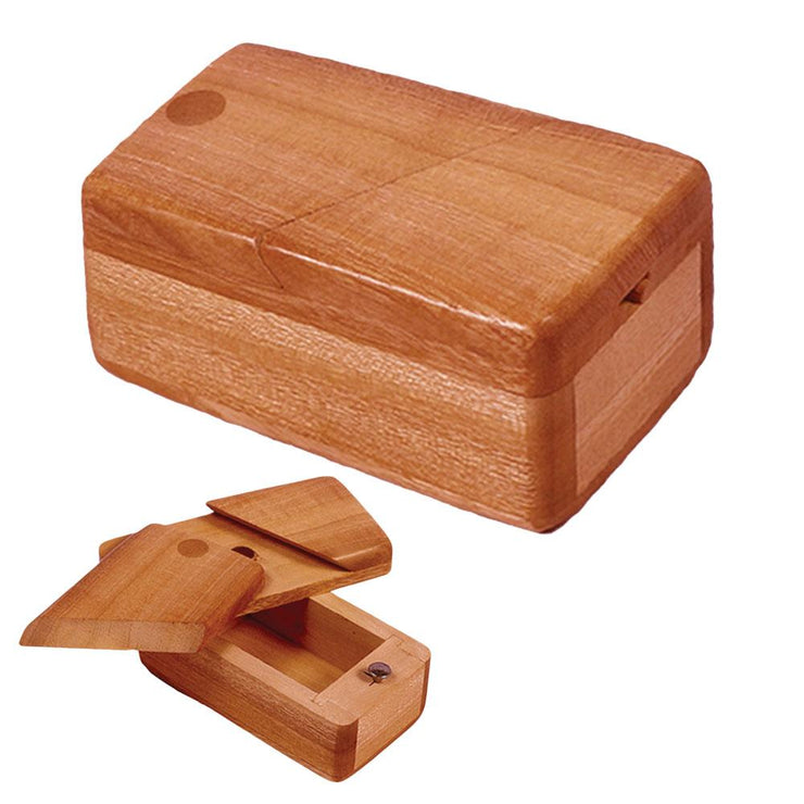Square Wooden Trick Stash Box | Large