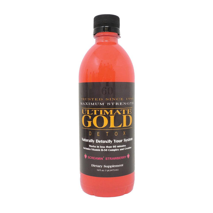 Ultimate Gold Detox Drink | 16oz | Strawberry