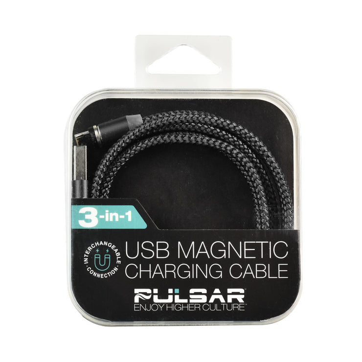 Pulsar Magnetic 3-in-1 USB Charger Cable | Black