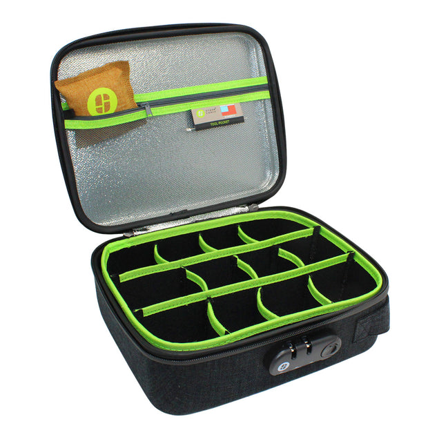 Stashlogix Silverton Lockable Stash Case | Black/Large
