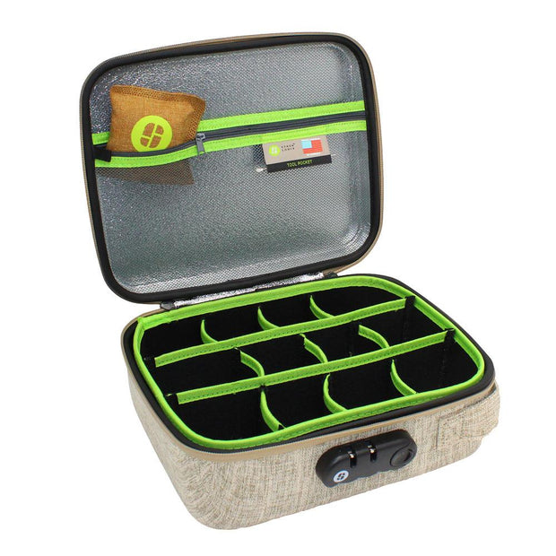 Stashlogix Silverton Lockable Stash Case | Tan/Large