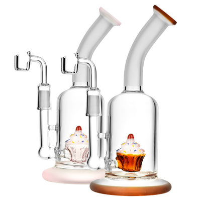 Cupcake Perc Dab Rig in Multiple Colors