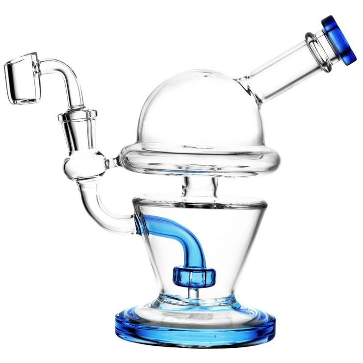 UFO Glass Dab Rig In Blue Color