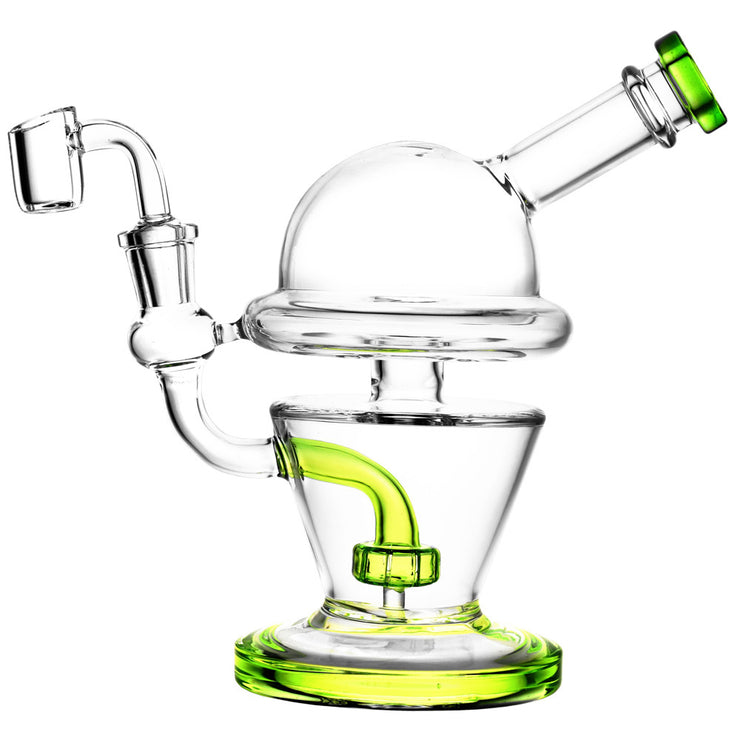 UFO Glass Dab Rig In Green Color